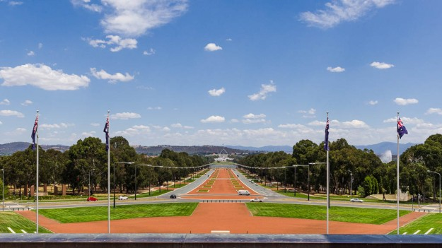 Anzac Parade and Parliament House