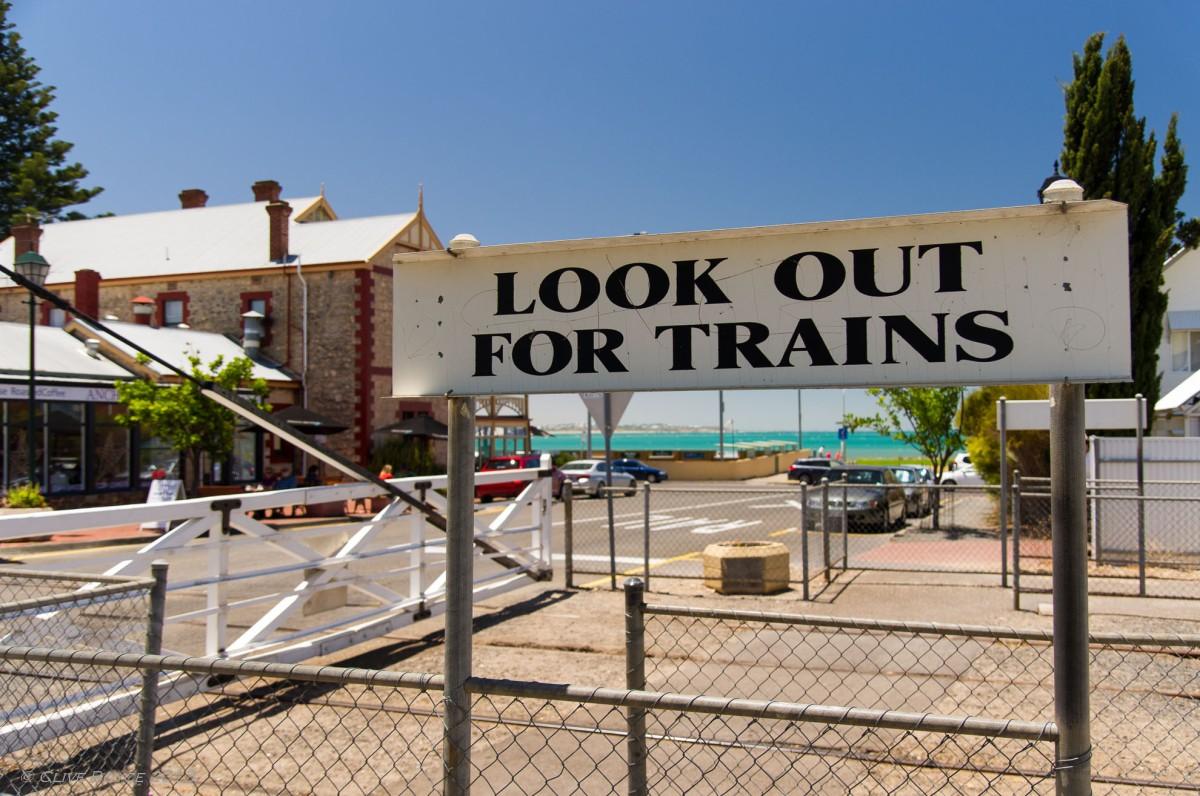 Signage at Victor Harbor Railway Station