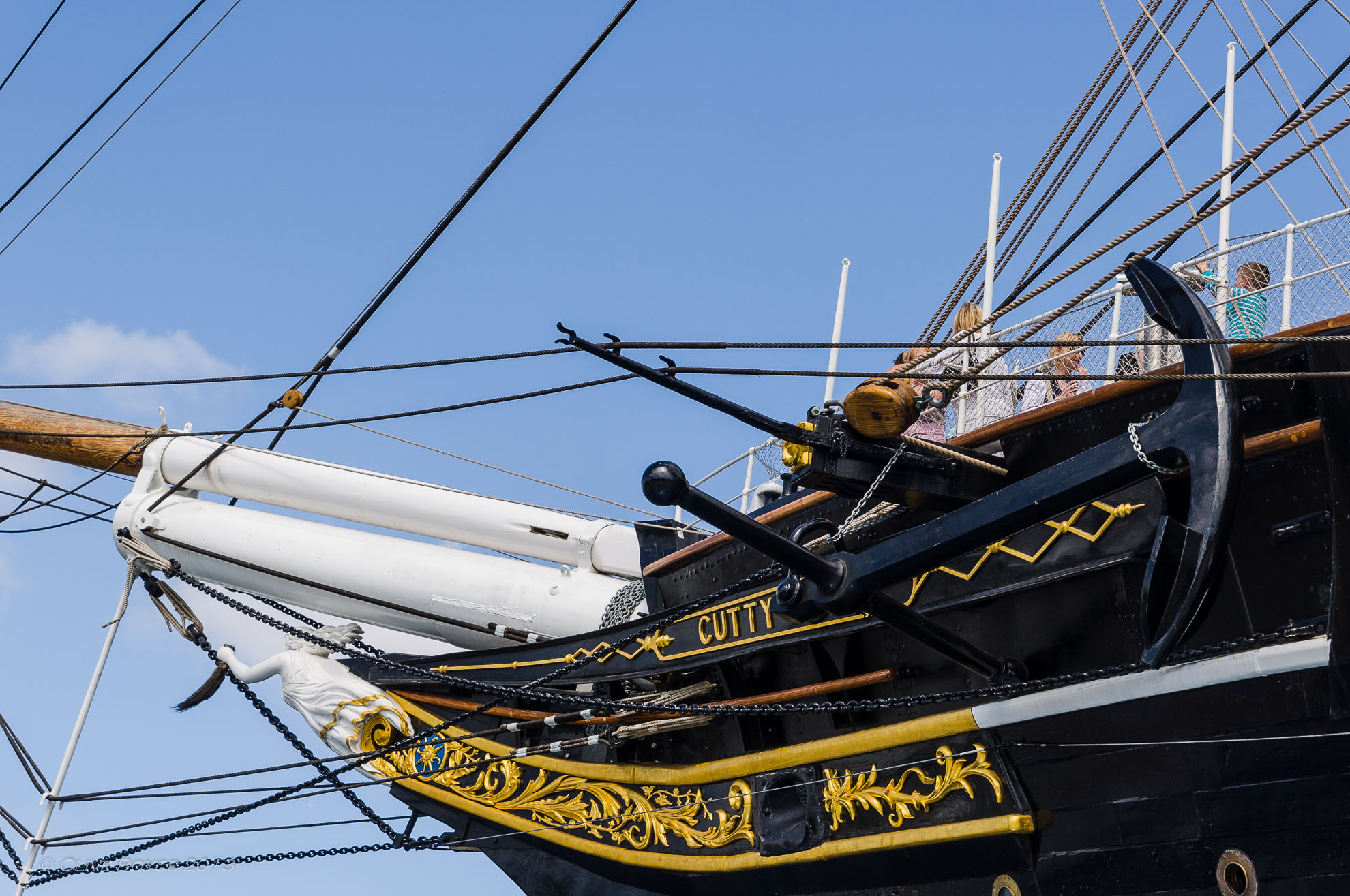 Bowsprint and figurehead of the Cutty Sark