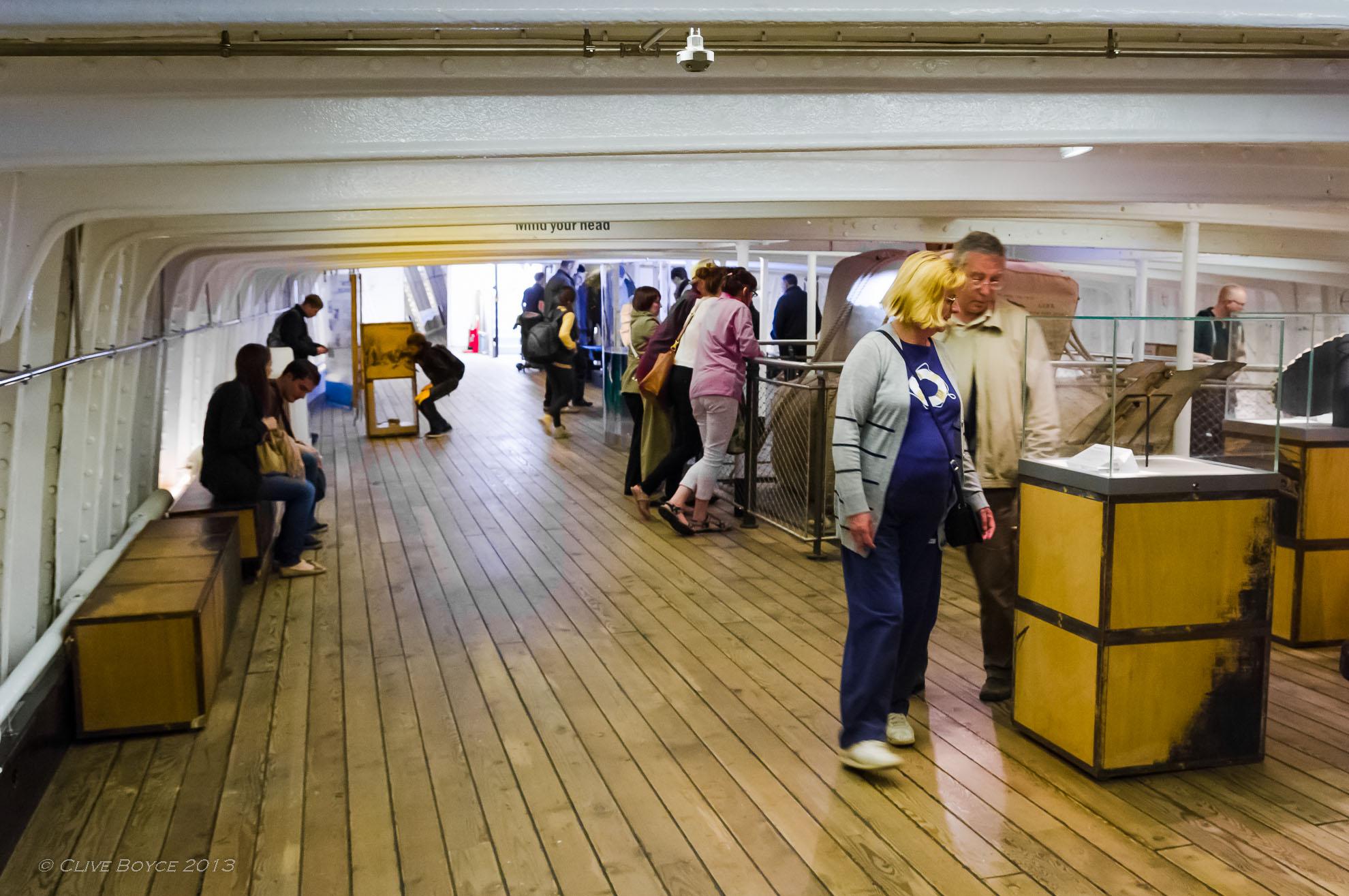 Tween decks on the Cutty Sark