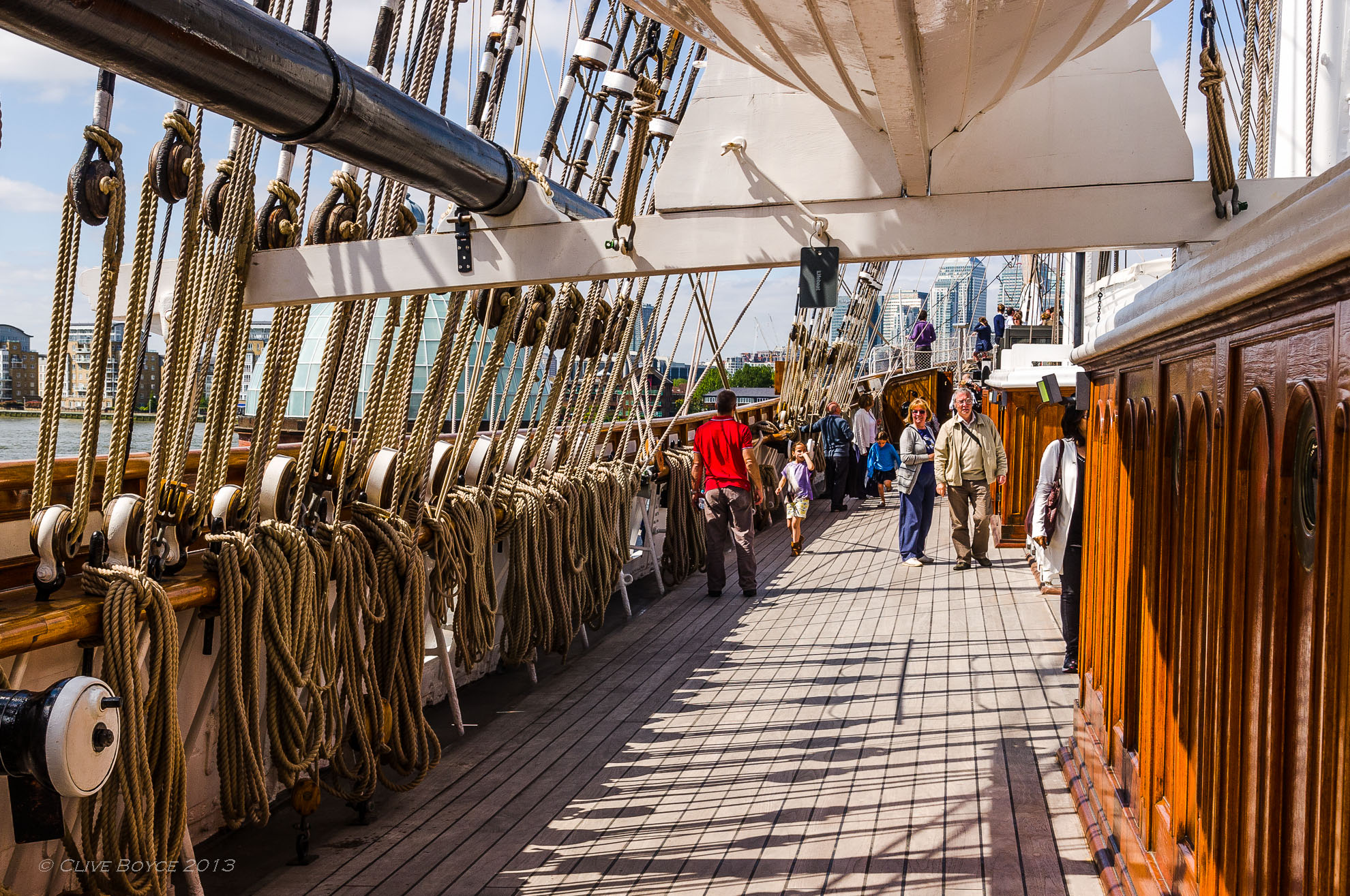 Deck of the Cutty Sark