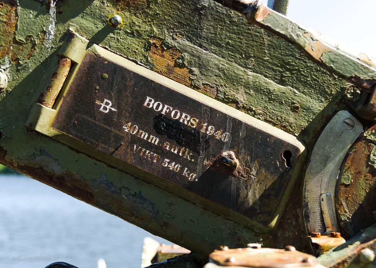 Bofors 40mm Anti-aircraft gun on Fjaderholmarna
