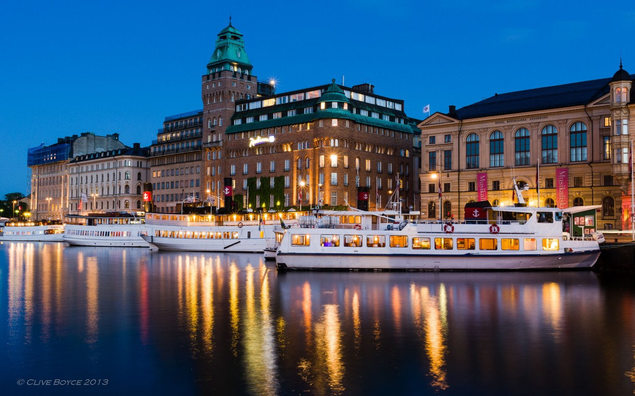 Ferries in the central harbor, Stockholm