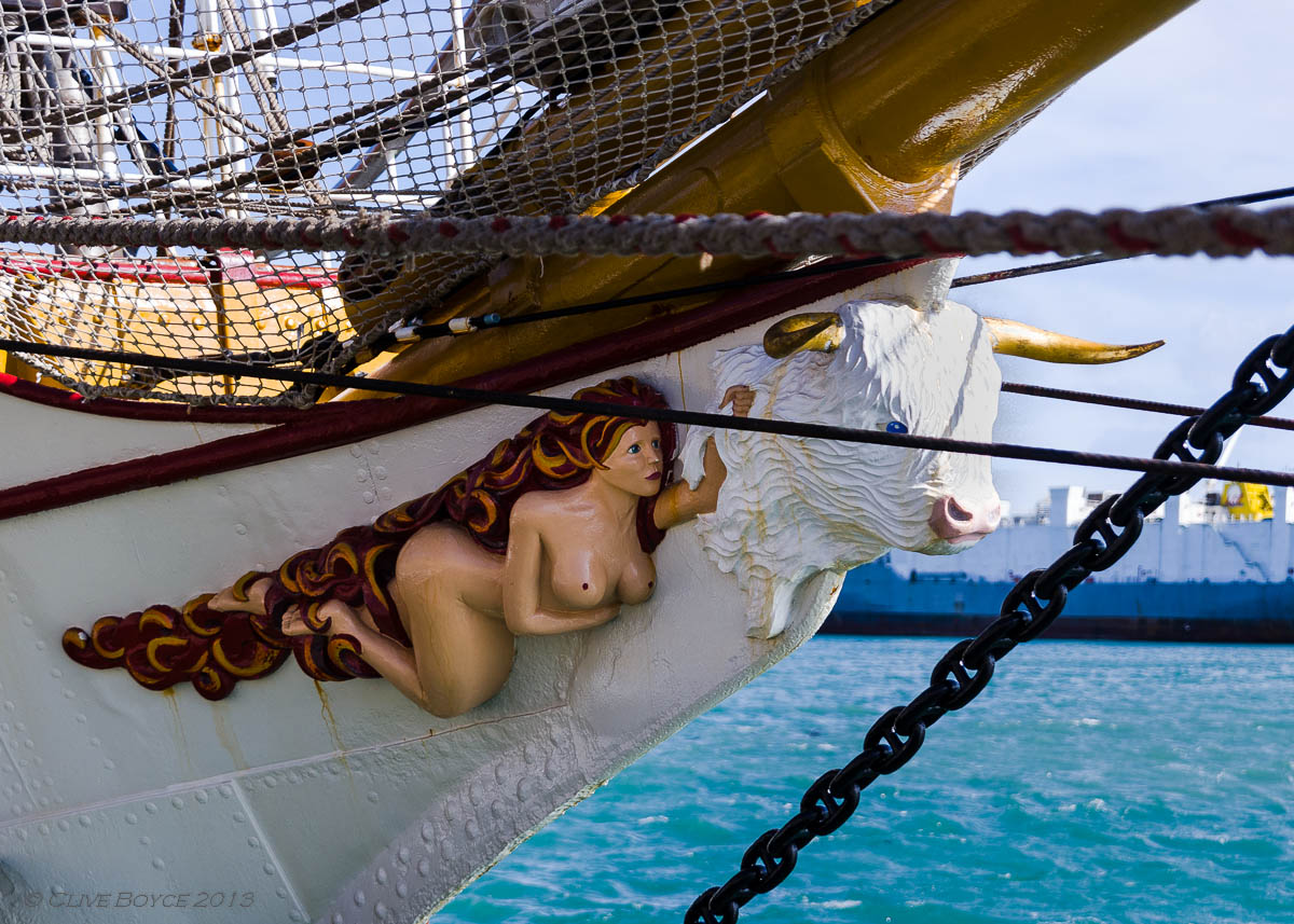 The Europa's figurehead