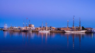 Tall Ships at dusk, Port Adelaide
