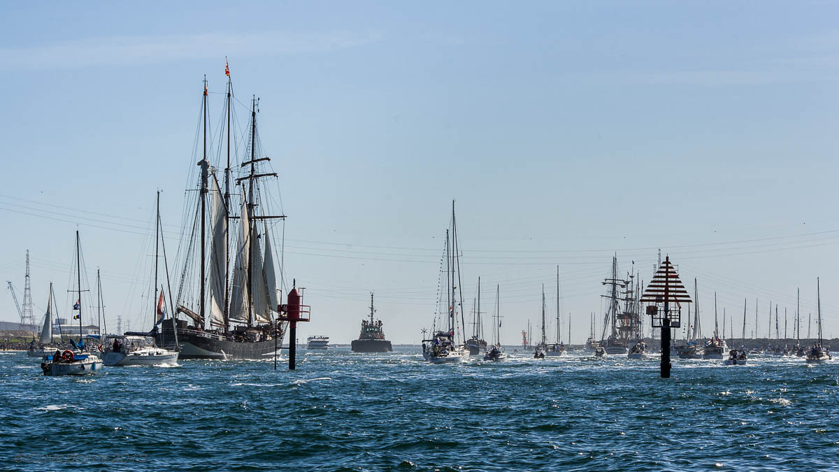 Tall Ships departing Port Adelaide