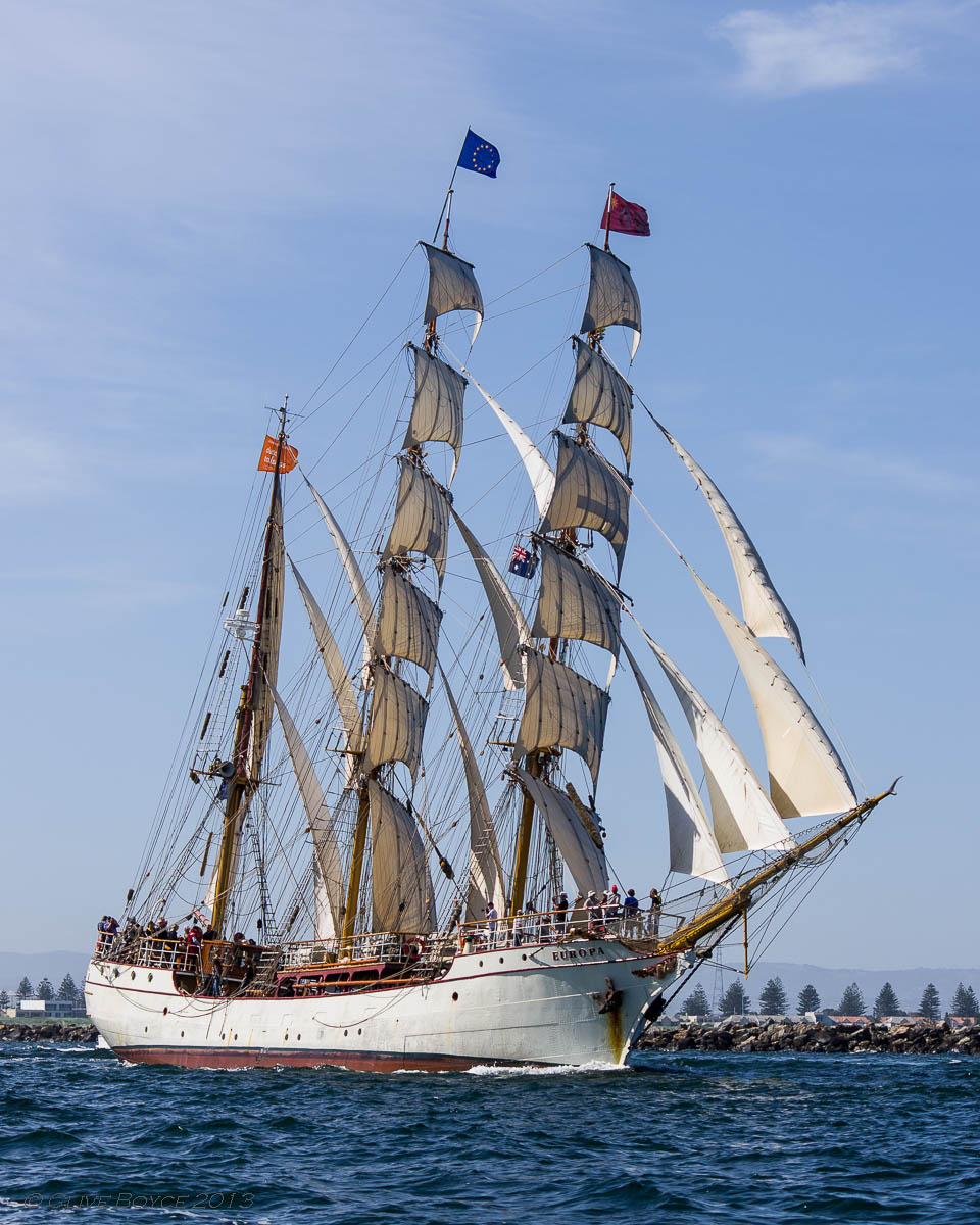 Europa, departing Port Adelaide