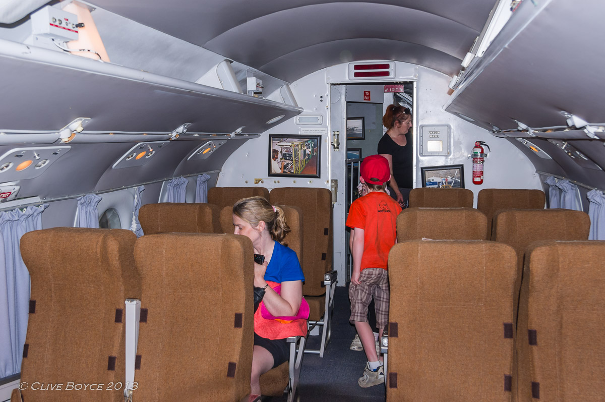 Fokker F27 Friendship cabin interior