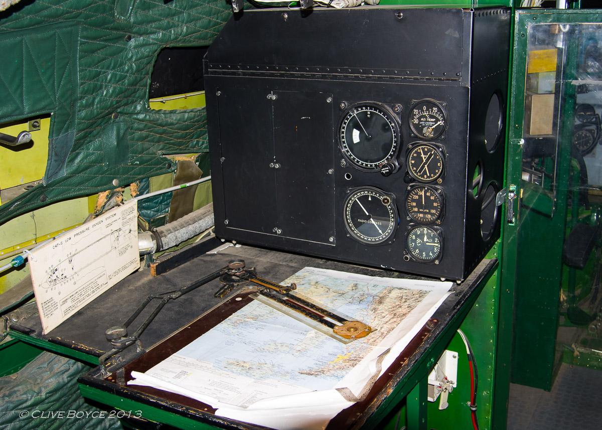 RAAF C-47B Dakota A65-114 navigation station