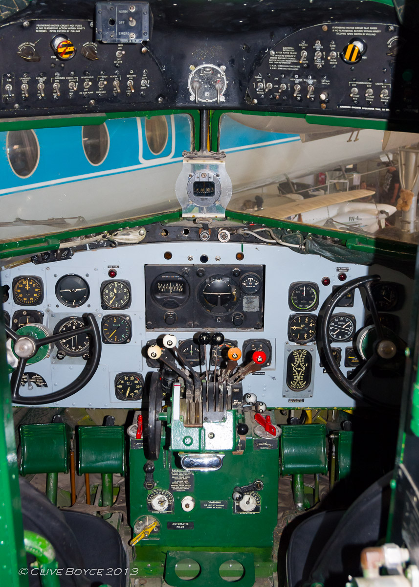 RAAF C-47B Dakota A65-114 cockpit