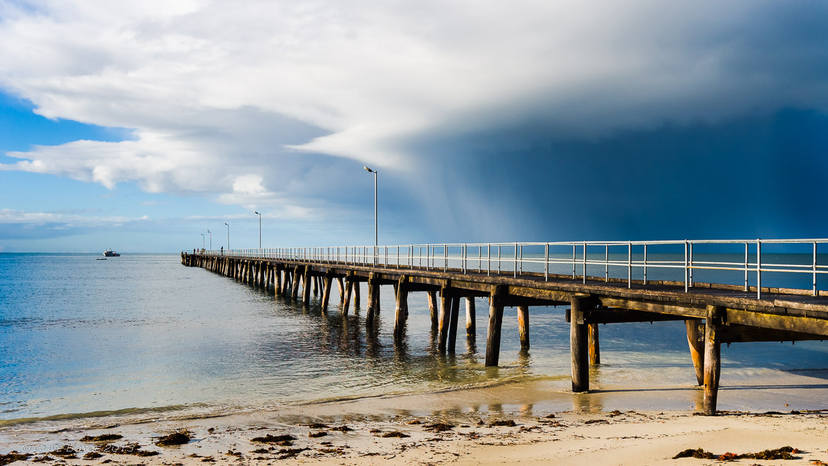 Storm passing Marion Bay, South Australia