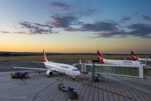 Dawn at Adelaide Airport