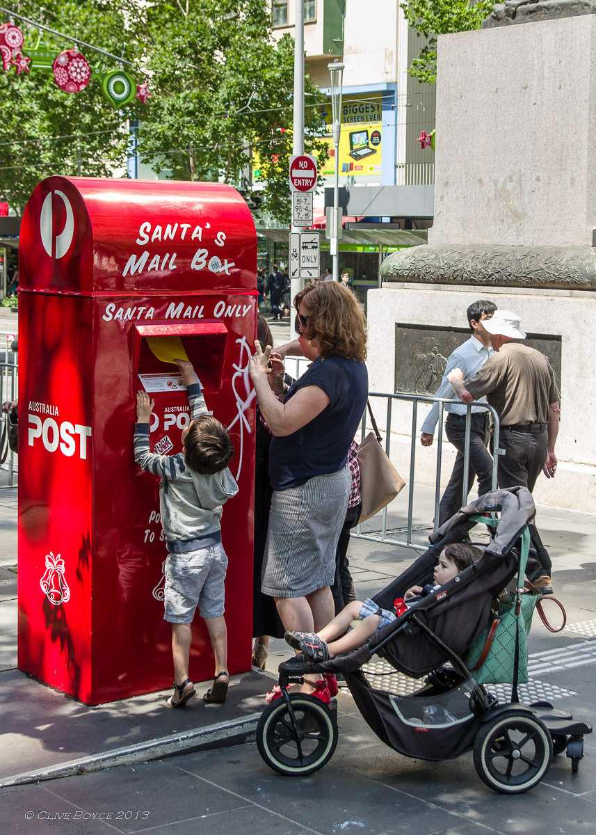 Santa's Post Box, Swanson Street, Melbourne