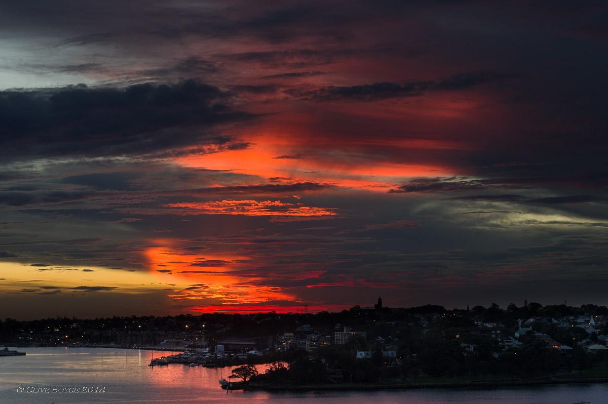 Sunset over Balmain, Sydney