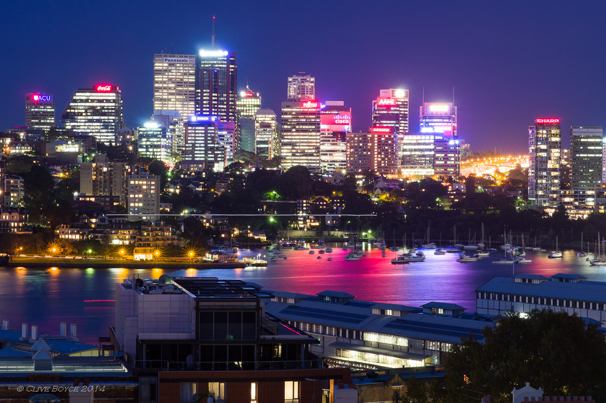 North Sydney at Night, with blemish
