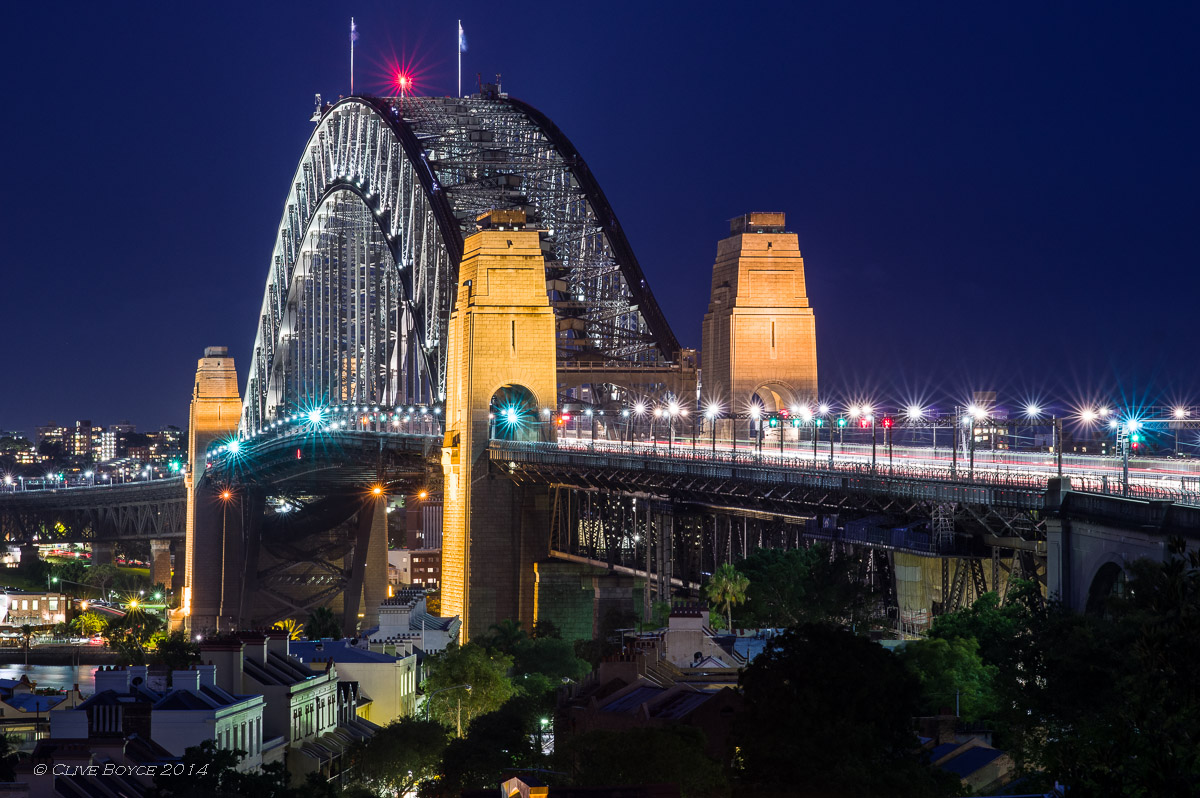 Sydney Harbor Bridge at Night