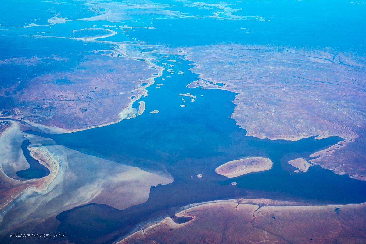 Lake Everard from 35,000 feet