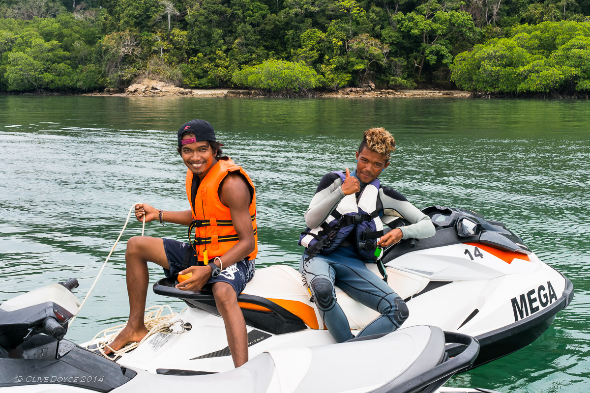 Our guides from Mega Water Sports, Langkawi