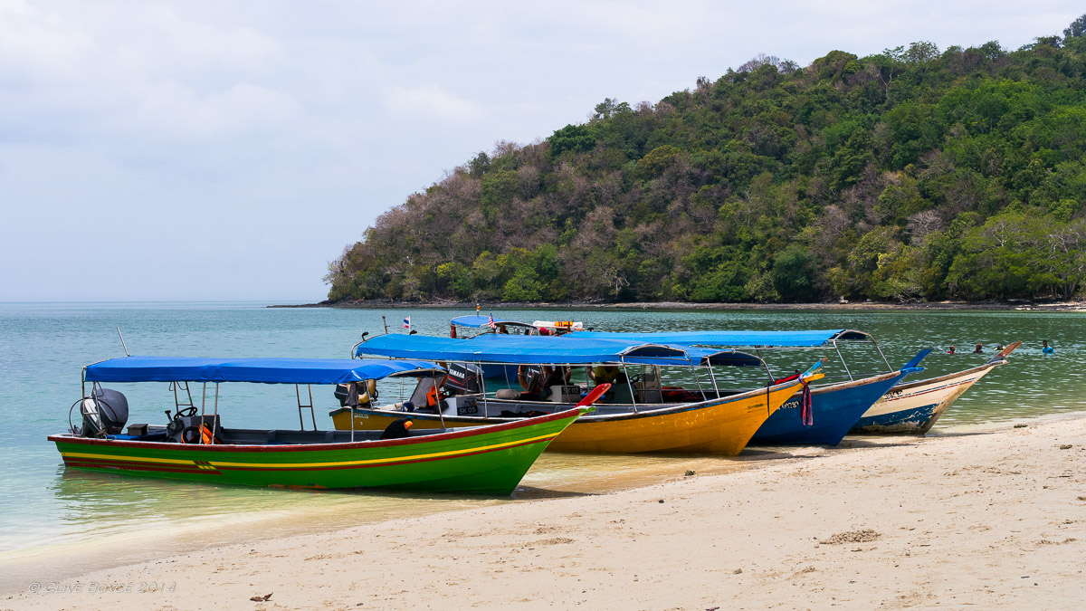 Long boats, Beras Basah Island, Langkawi