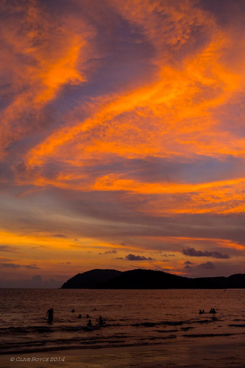 Pantai Cenang sunset, Langkawi