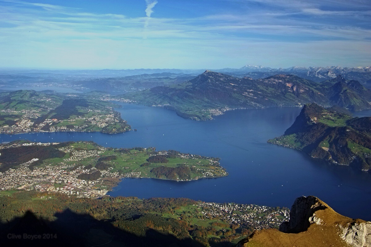 Lake Lucerne from Mt Pilatus