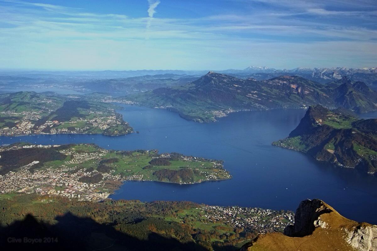 Lake Lucerne from Mt Pilatus