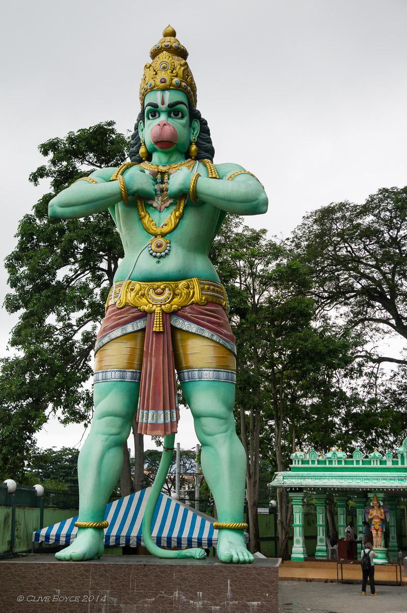 Hanuman staute, Batu Caves