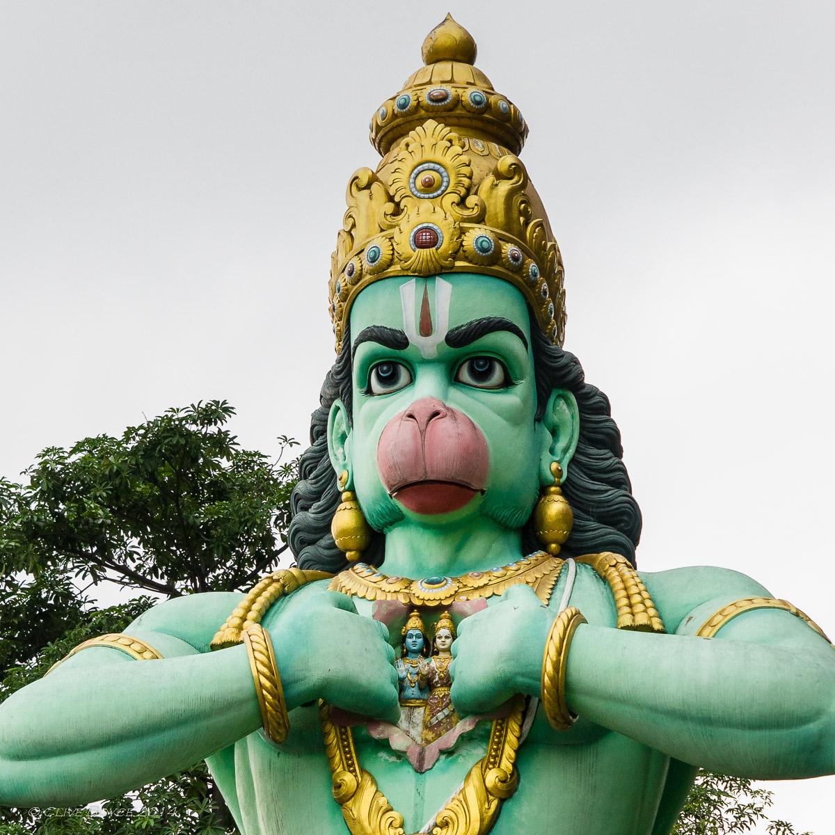 Hanuman staute, Batu Cave