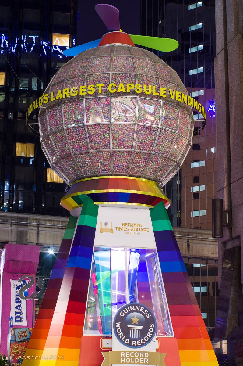 World's Largest Capsule Machine, Berjaya Times Square, Kuala Lumpur