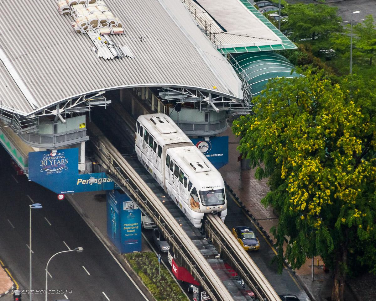 KL Monorail at Hang Tuah station