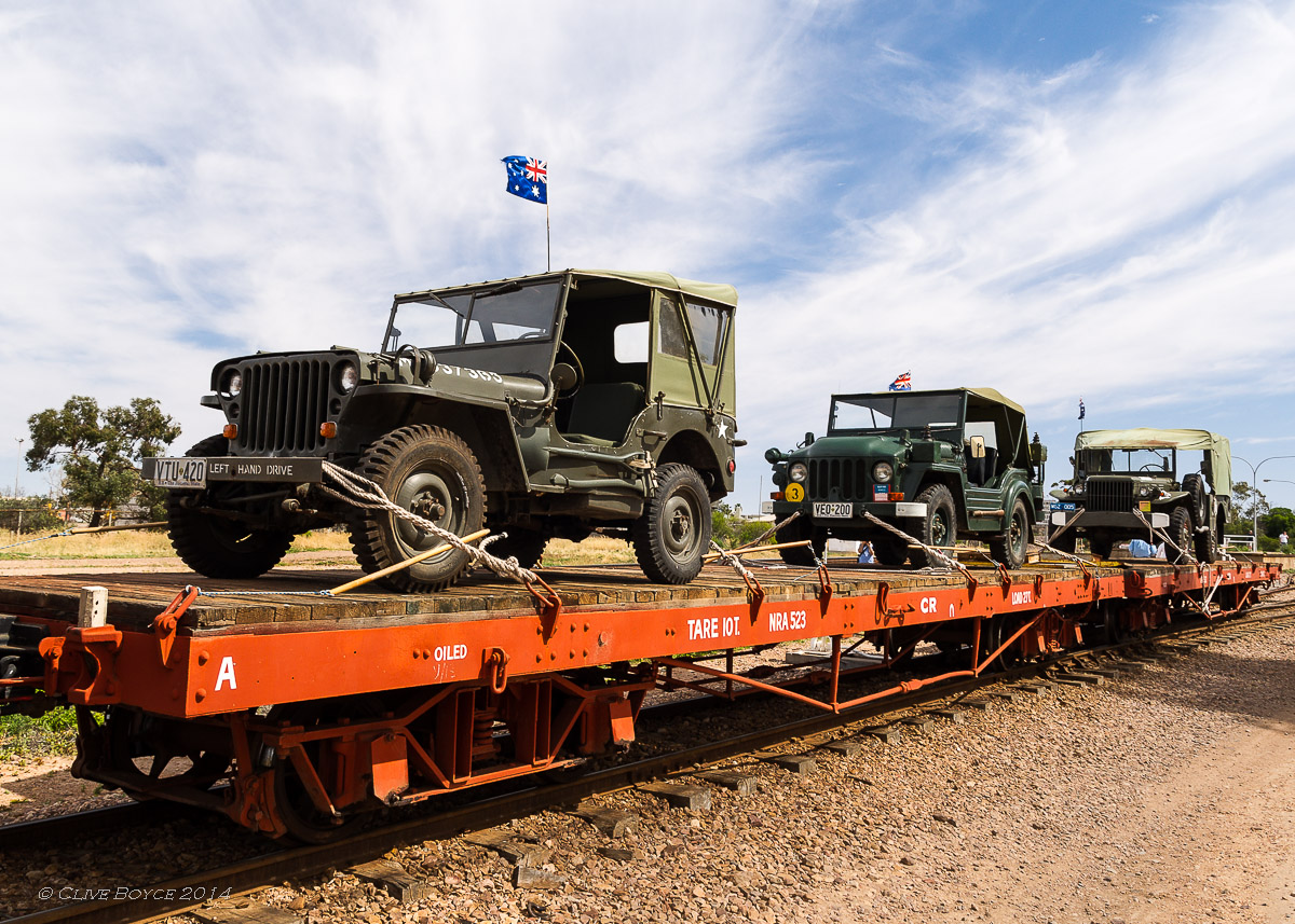 WWII Military vehicles, Pichi Richi Railway