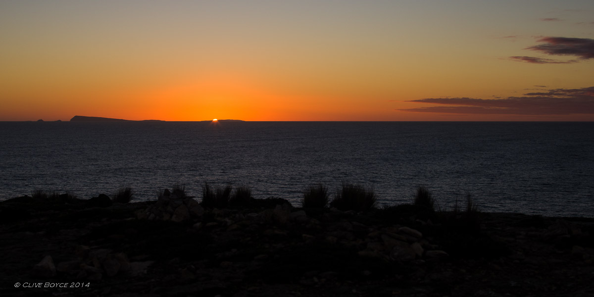 Sunset behind Wedge Island, Yorke Peninsula