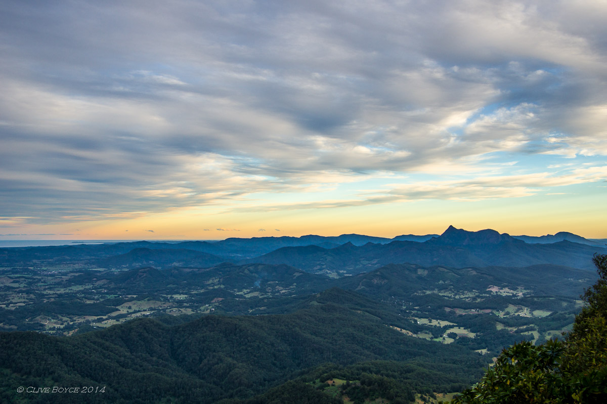 Mount Warning from Best of All Lookout, Springbrook National Park