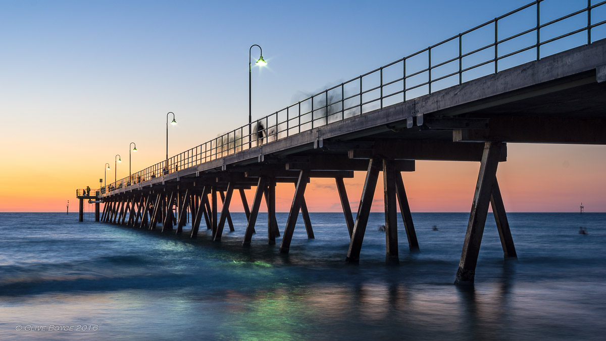 Glenelg Beach at Dusk