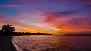 Sunset, Swan River, Perth, Western Australia